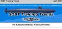 Newsletter banner for the April 2000 edition of SOBT Training Trends.
