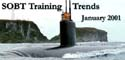 Newsletter banner for the January 2001 edition of SOBT Training Trends.