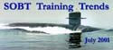 Newsletter banner for the July 2001 edition of SOBT Training Trends.