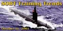 Newsletter banner for the October 2001 edition of SOBT Training Trends.